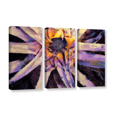 Brushstone Agave Glow 3-pc. Gallery Wrapped CanvasWall Art