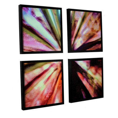 Brushstone Agave Glow 4-pc. Square Floater FramedCanvas