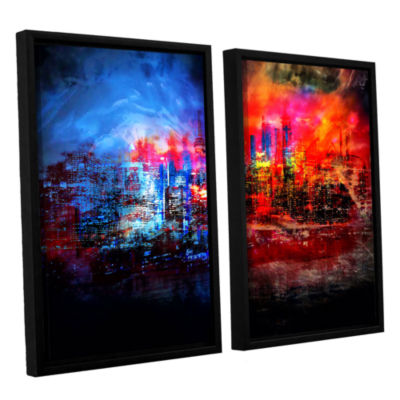 Brushstone A Tale Of Two Cities 2-pc. Floater Framed Canvas Wall Art