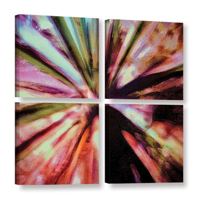 Brushstone Agave Glow 4-pc. Square Gallery WrappedCanvas