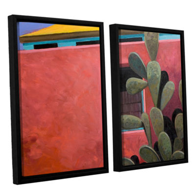 Brushstone Adobe Color 2-pc. Floater Framed CanvasWall Art