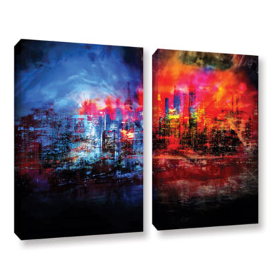Brushstone A Tale Of Two Cities 2-pc. Gallery Wrapped Canvas Wall Art