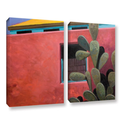 Brushstone Adobe Color 2-pc. Gallery Wrapped Canvas Wall Art