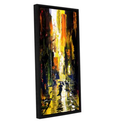 Brushstone Allie 2 Gallery Wrapped Floater-FramedCanvas Wall Art
