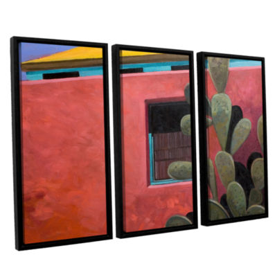 Adobe Color 3-pc. Floater Framed Canvas Wall Art