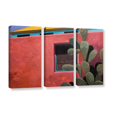 Brushstone Adobe Color 3-pc. Gallery Wrapped Canvas Wall Art