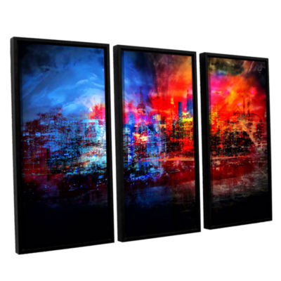 Brushstone A Tale Of Two Cities 3-pc. Floater Framed Canvas Wall Art
