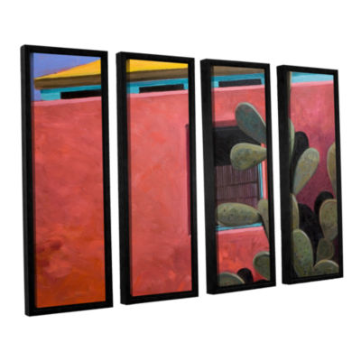 Brushstone Adobe Color 4-pc. Floater Framed CanvasWall Art