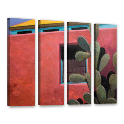 Brushstone Adobe Color 4-pc. Gallery Wrapped Canvas Wall Art