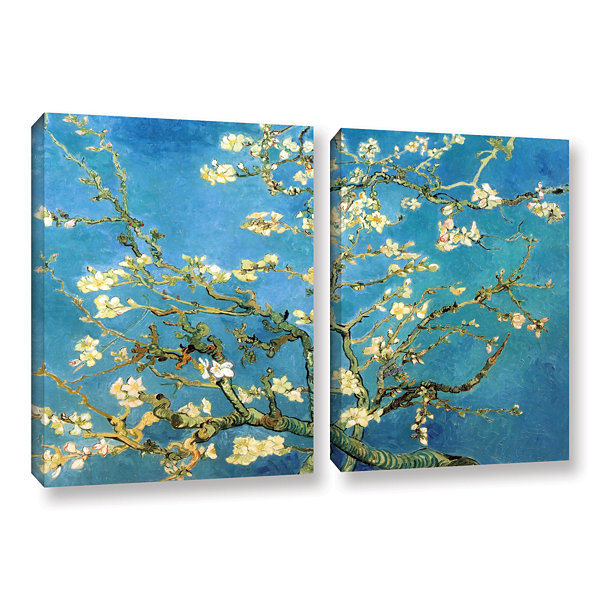 Brushstone Almond Blossom 2-pc. Gallery Wrapped Canvas Wall Art