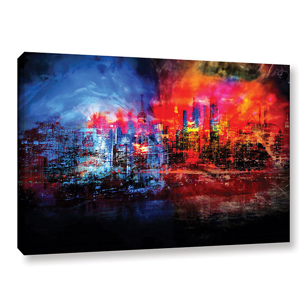 Brushstone A Tale Of Two Cities Gallery Wrapped Canvas Wall Art