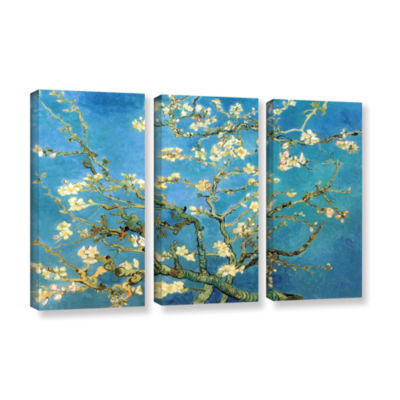 Brushstone Almond Blossom 3-pc. Gallery Wrapped Canvas Wall Art