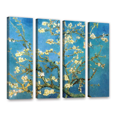Brushstone Almond Blossom 4-pc. Gallery Wrapped Canvas Wall Art