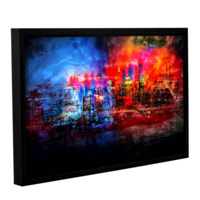 Brushstone A Tale Of Two Cities Gallery Wrapped Floater-Framed Canvas Wall Art