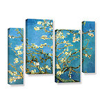 Brushstone Almond Blossom 4-pc. Gallery Wrapped Staggered Canvas Wall Art