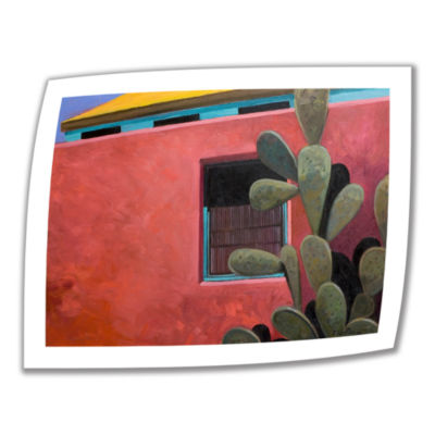 Brushstone Adobe Color Canvas Wall Art