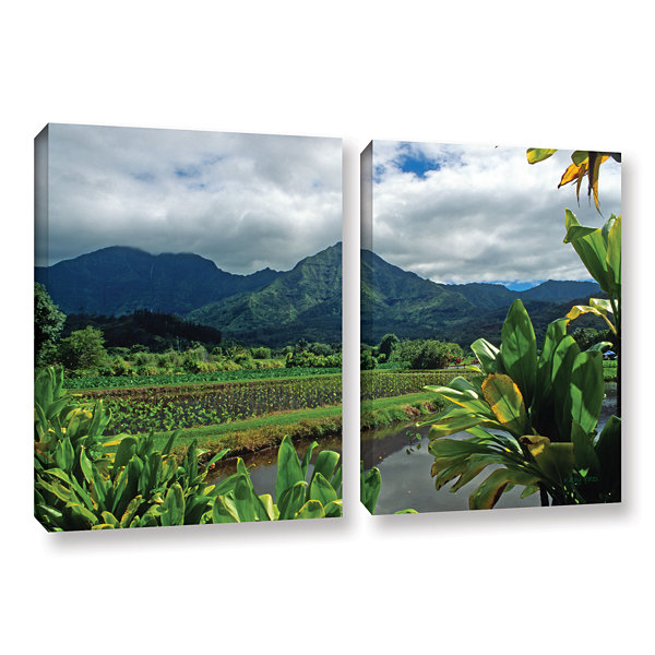 Brushstone A Taro Farm in Hanalei 2-pc. Gallery Wrapped Canvas Wall Art
