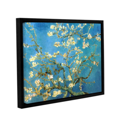 Brushstone Almond Blossom Gallery Wrapped Floater-Framed Canvas Wall Art