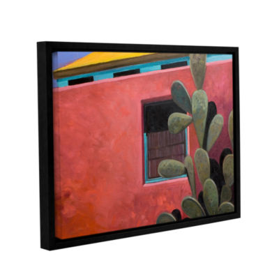 Brushstone Adobe Color Gallery Wrapped Floater-Framed Canvas Wall Art