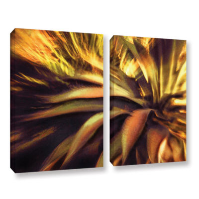 Brushstone Agave Puesta 2-pc. Gallery Wrapped Canvas Wall Art