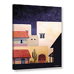 Brushstone Adobe Village Forms Gallery Wrapped Canvas Wall Art