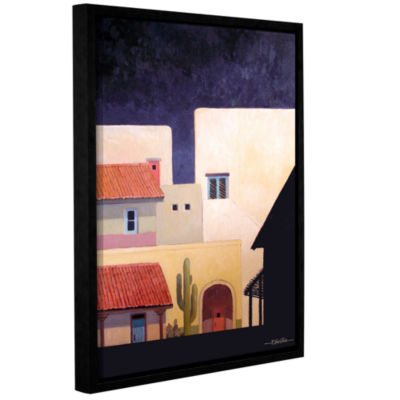 Brushstone Adobe Village Forms Gallery Wrapped Floater-Framed Canvas Wall Art