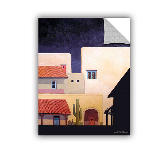 Brushstone Adobe Village Forms Removable Wall Decal