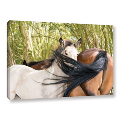 Brushstone Affectionate Horses Gallery Wrapped Canvas Wall Art