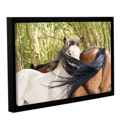 Brushstone Affectionate Horses Gallery Wrapped Floater-Framed Canvas Wall Art