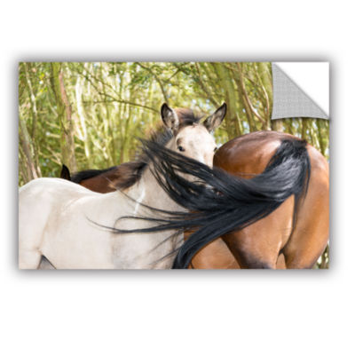 Brushstone Affectionate Horses Removable Wall Decal
