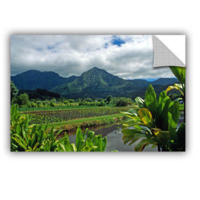 Brushstone A Taro Farm in Hanalei Removable Wall Decal