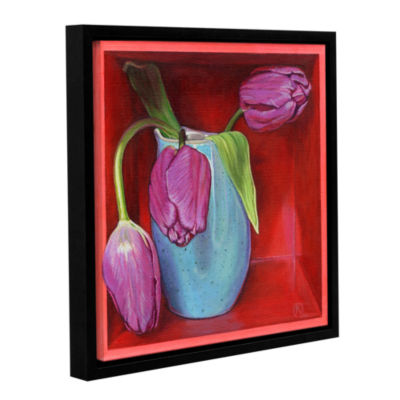 Brushstone A Trio Of Tulips Gallery Wrapped Floater-Framed Canvas Wall Art