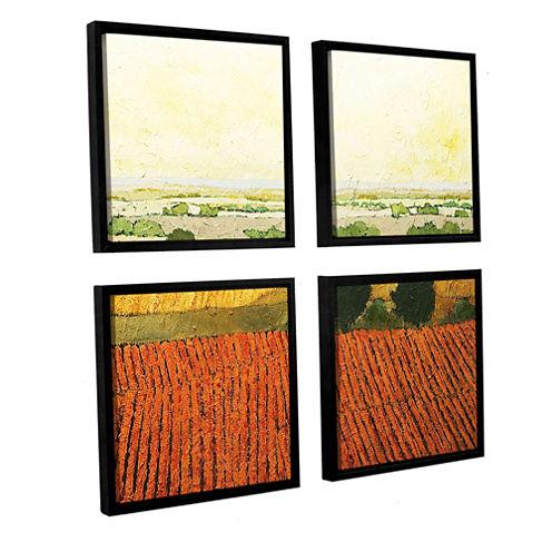 After Harvest 4-pc. Square Floater Framed Canvas