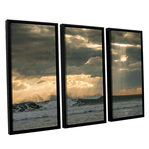 After Storm Lighting 3-pc. Floater Framed Canvas Wall Art