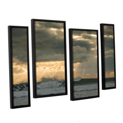 Brushstone After Storm Lighting 4-pc. Floater Framed Staggered Canvas Wall Art
