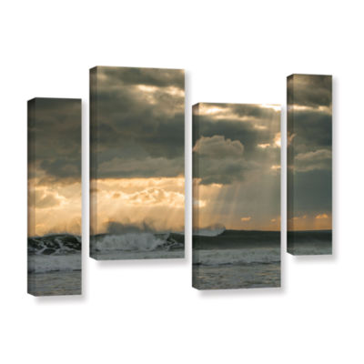Brushstone After Storm Lighting 4-pc. Gallery Wrapped Staggered Canvas Wall Art