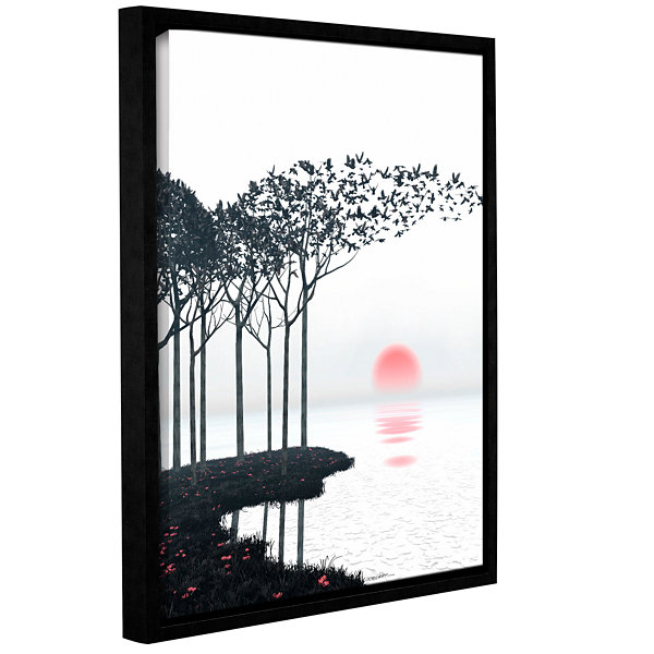 Brushstone Aki Gallery Wrapped Floater-Framed Canvas Wall Art