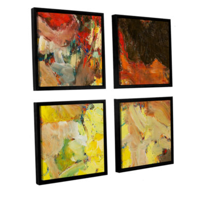Brushstone After the Ball 4-pc. Square Floater Framed Canvas