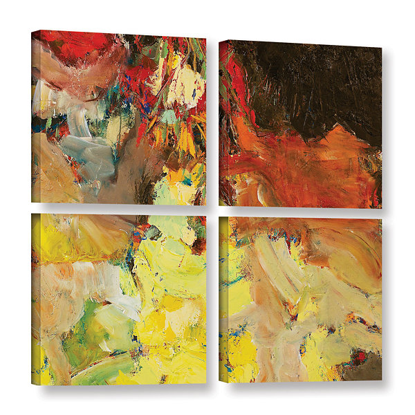 Brushstone After the Ball 4-pc. Square Gallery Wrapped Canvas