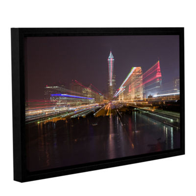Brushstone Cleveland Skyline 13 Gallery Wrapped Floater-Framed Canvas Wall Art