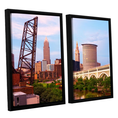 Brushstone Cleveland 10 2-pc. Floater Framed Canvas Wall Art