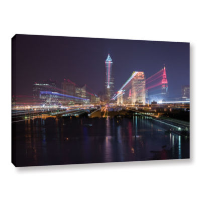 Brushstone Cleveland Skyline 14 Gallery Wrapped Canvas Wall Art