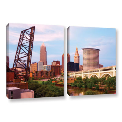 Brushstone Cleveland 10 2-pc. Gallery Wrapped Canvas Wall Art