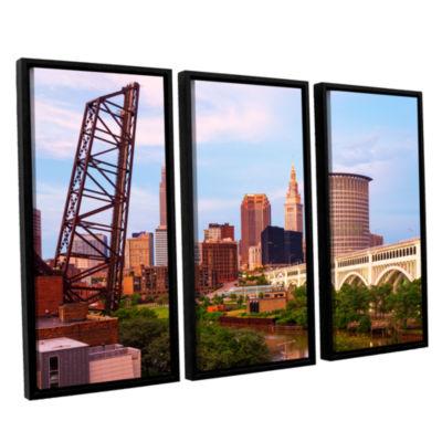 Brushstone Cleveland 10 3-pc. Floater Framed Canvas Wall Art