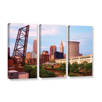 Brushstone Cleveland 10 3-pc. Gallery Wrapped Canvas Wall Art