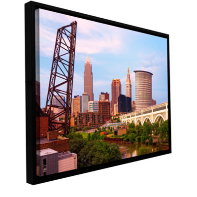 Brushstone Cleveland 10 Gallery Wrapped Floater-Framed Canvas Wall Art