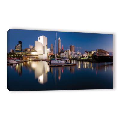 Brushstone Cleveland Skyline 2 Gallery Wrapped Canvas Wall Art