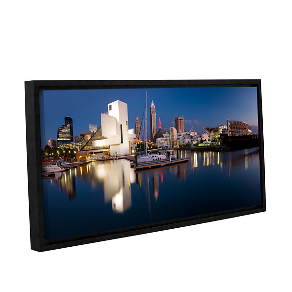 Brushstone Cleveland Skyline 2 Gallery Wrapped Floater-Framed Canvas Wall Art