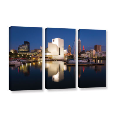 Brushstone Cleveland Skyline 3 3-pc. Gallery Wrapped Canvas Wall Art