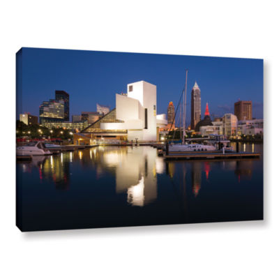 Brushstone Cleveland Skyline 3 Gallery Wrapped Canvas Wall Art